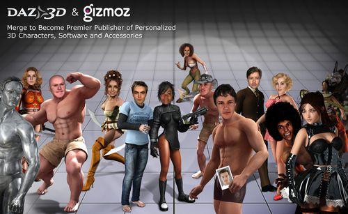 Gizmoz & DAZ 3D merge